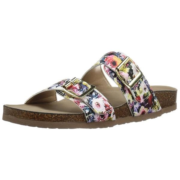 Madden Girl Womens Brando Fabric Open Toe Casual Slide Sandals
