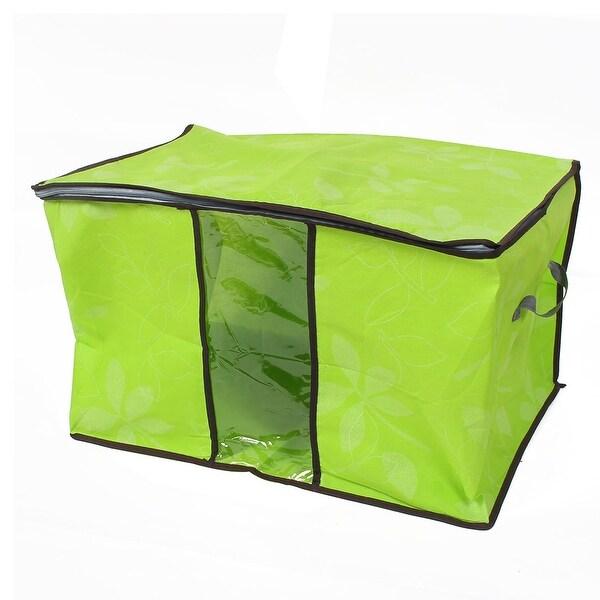 Blanket Pillows Quilts Clothes Beddings Storage Bag Organizer Green 60x35x42cm
