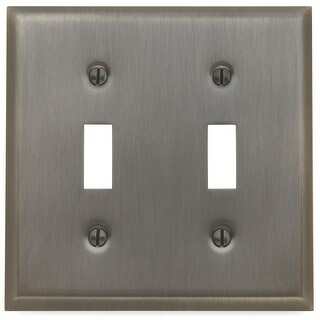 Baldwin 4761.CD Beveled Edge Solid Brass Double Toggle Switchplate - N/A
