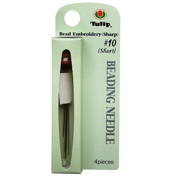 Tulip Beading Needles Size 10 (Short) 37x0.46mm - 4 Pack