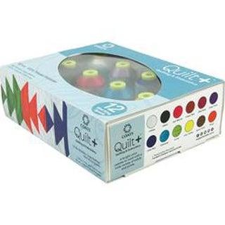 Brights 12/Pkg - Quilt + Polytri Thread Boxed Assortment 1100Yd