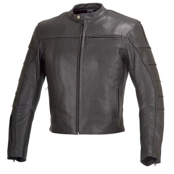 Men Motorcycle Biker Armor Leather Jacket by Xtreemgear Black MBJ022