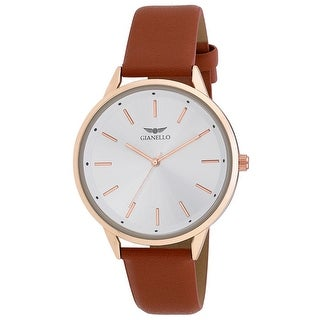Link to Gianello Mens Minimalist Round Case Strap Watch Similar Items in Men's Watches