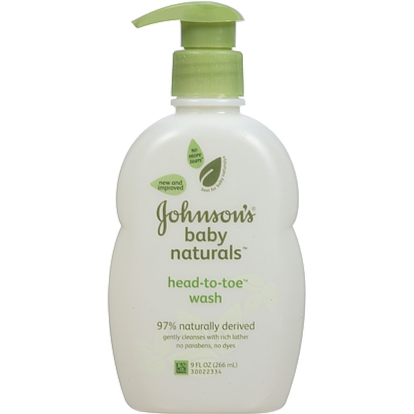 JOHNSON'S Natural Head-To-Toe Baby Wash 9 oz