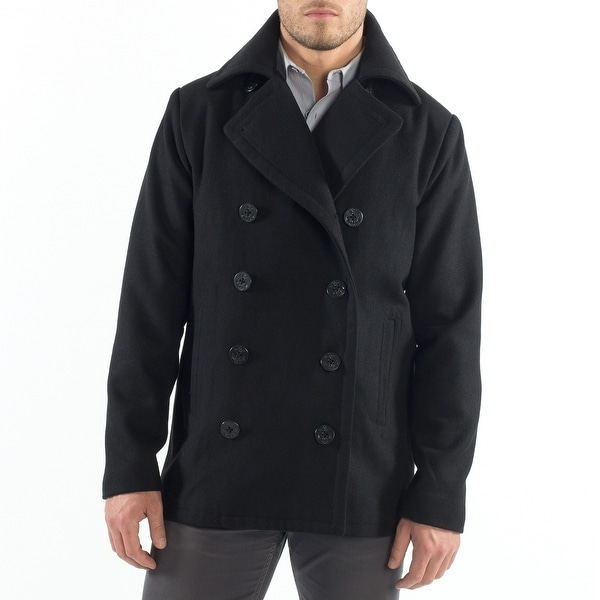 Alpine Swiss Mason Mens Wool Blend Classic Pea Coat Jacket. Opens flyout.