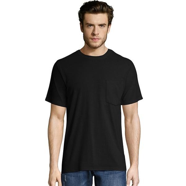 1907e8730310 Shop Hanes Men's X-Temp® FreshIQ® Workwear Pocket Tee Value 2-Pack ...