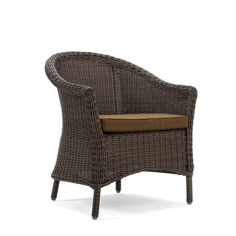 La-Z-Boy Cumberland Café Brown Dining Chair with Sunbrella Spectrum Caribou Fabric (Set of 2)