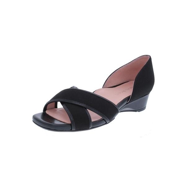 Taryn Rose Womens Kaida Wedge Sandals Criss Cross Square Toe