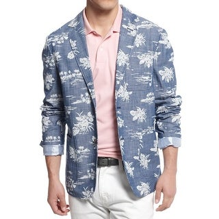 Tommy Hilfiger Mens The Sportcoat Sportcoat Cotton Printed - XL