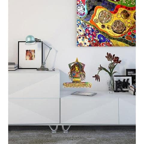 Yoga Meditation Girl Wall Decal, Yoga Meditation Girl Wall sticker, Yoga Meditation Girl wall decor