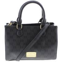 Bebe Womens Alexis Satchel Handbag Faux Leather Convertible - MEDIUM