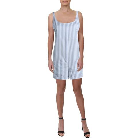 Bishop + Young Womens Gracie Romper Striped Sleeveless - Twilight Blue - S