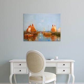 Easy Art Prints Vahe Yeremyan's 'Gateway Harbor Park' Premium Canvas Art