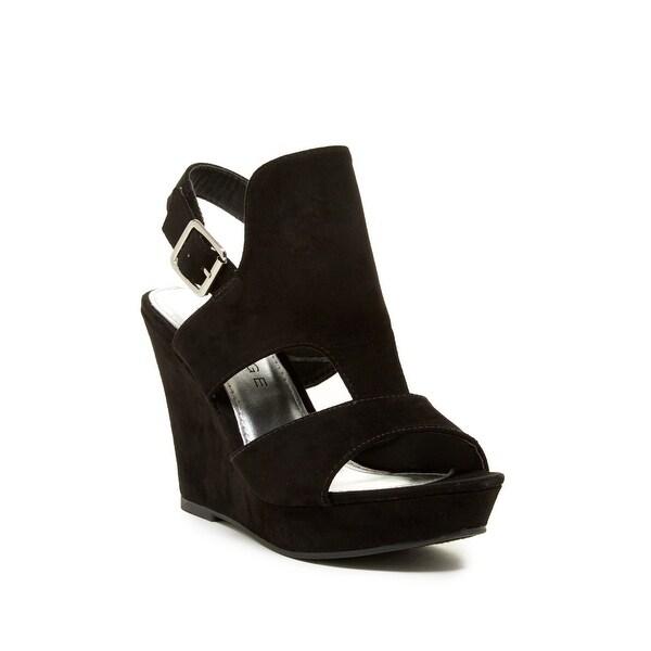 Rampage Womens Ram-Camillas Fabric Open Toe Casual Platform Sandals - 7.5