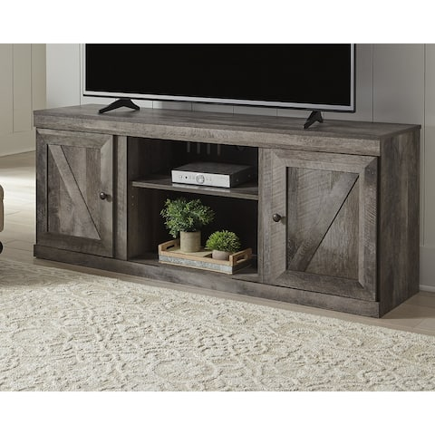 Wynnlow Casual Large TV Stand w/Fireplace Option, Black