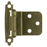 "Liberty H0104AL-AB-U Self-Closing Inset Hinge, 3/8"", Antique Brass, 2 Pack"