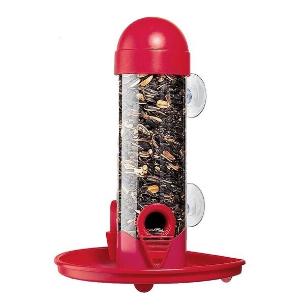 "Garden Song 4626 Window Tube Bird Feeder, 2-1/2"" W x 8"" L"