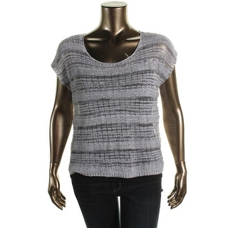 Eileen Fisher Womens Linen Open Stitch Pullover Sweater - XL