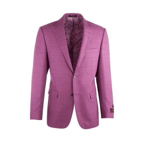 Shop Sangria Fuchsia Pure Crepe Wool Jacket By Tiglio Luxe