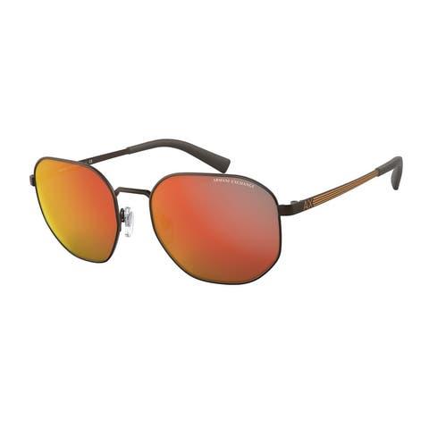 Armani Exchange AX2036S 60016Q 56 Matte Brown Man Pillow Sunglasses