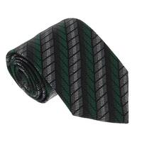 Missoni U4018 Green/Grey  Chevron 100% Silk Tie - 60-3
