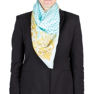 Versace Women's Baroque Spotted Pattern Silk Scarf