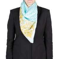 Versace Women's Baroque Spotted Pattern Silk Scarf