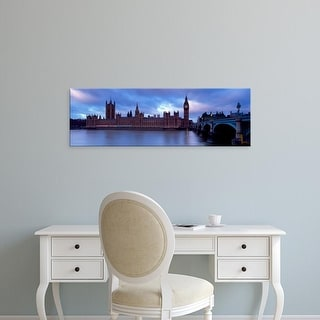 Easy Art Prints Panoramic Images's 'Big Ben, The Houses Of Parliament, London, England, United Kingdom' Canvas Art