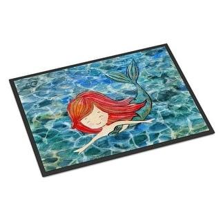 Carolines Treasures BB8518JMAT Mermaid Swimming Indoor Or Outdoor Mat - 24 x 36 in.