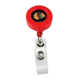 Chicago Blackhawks Retractable Badge Reel Id Ticket Clip NHL