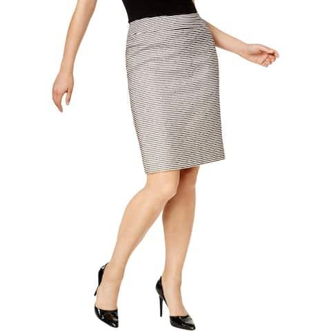 Nine West Womens A-Line Skirt Tweed Striped