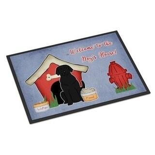 Carolines Treasures BB2811MAT Dog House Collection Black Labrador Indoor or Outdoor Mat 18 x 0.25 x 27 in.