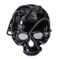 Steampunk Skull Costume Mask Silver Adult