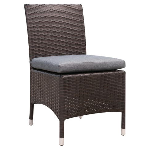 Furniture of America Sel Contemporary Wicker Patio Chairs (Set of 2)