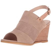 Very Volatile Womens Hyde Leather Open Toe Casual Slingback Sandals