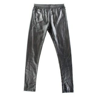 Designer NEW Black Women's Size Medium M Faux Leather Legging Pants