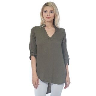 Women's Woven Cotton Gauze Tunic Top (Small to 3X Plus Size)