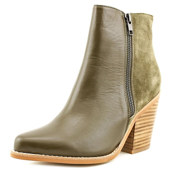 Sol Sana Melody Women Round Toe Leather Green Ankle Boot
