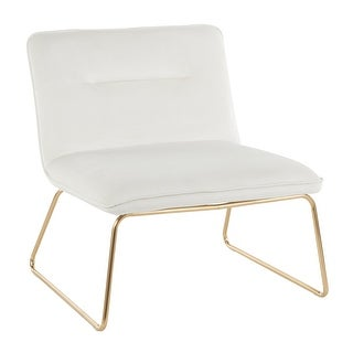 Link to Silver Orchid Kerby Accent Chair in Velvet & Gold Similar Items in Dining Room & Bar Furniture