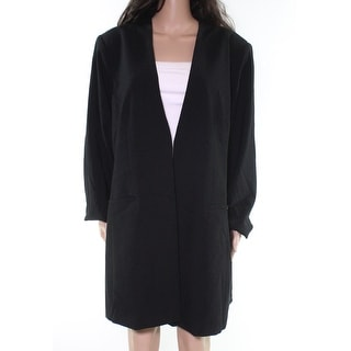Link to Calvin Klein Womens Jackets Black Size 20W Plus Collarless Solid Similar Items in Women's Outerwear