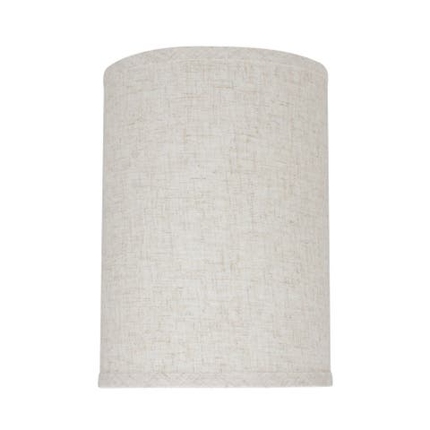 "Aspen Creative Hardback Drum (Cylinder) Shape Spider Construction Lamp Shade in Flaxen (8"" x 8"" x 11"")"