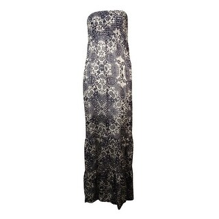 Guess Women's Smocked Silk Tube Dress - m