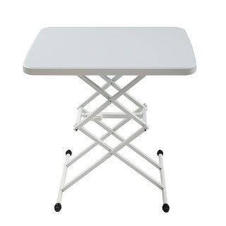 Link to 25x17 in Square Plastic Folding Card Table Lifting Desk Height Similar Items in Home Office Furniture