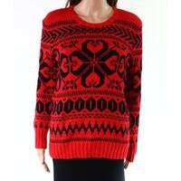 Lauren by Ralph Lauren Black Womens Knitted Sweater