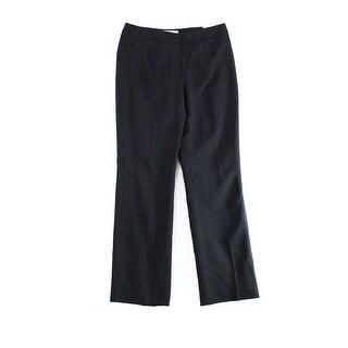 Kasper NEW Black Women's Size 12 Pinstripped Straight Leg Dress Pants