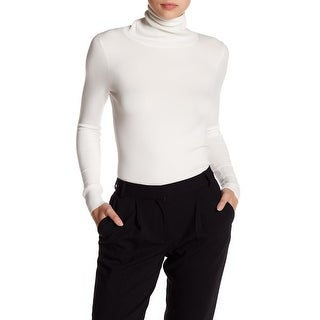 French Connection NEW White Womens Size Medium M Turtleneck Sweater