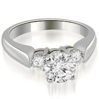 0.90 cttw. 14K White Gold Round Cut Diamond Engagement Ring