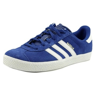 Adidas Gazelle 2 J Youth Round Toe Canvas Blue Sneakers