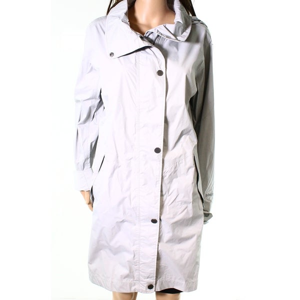 Marmot Steel Beige Womens Size XL Long Rain Hooded Mattie Jacket