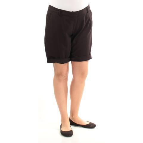KENSIE Womens Black Short Size: 4